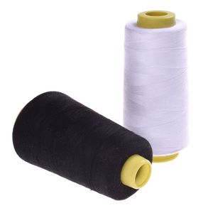 1 шт 3000 м ярдов швейная нить черно-белая промышленная полиэфирная нить DIY прочная и прочная одежда аксессуары для шитья