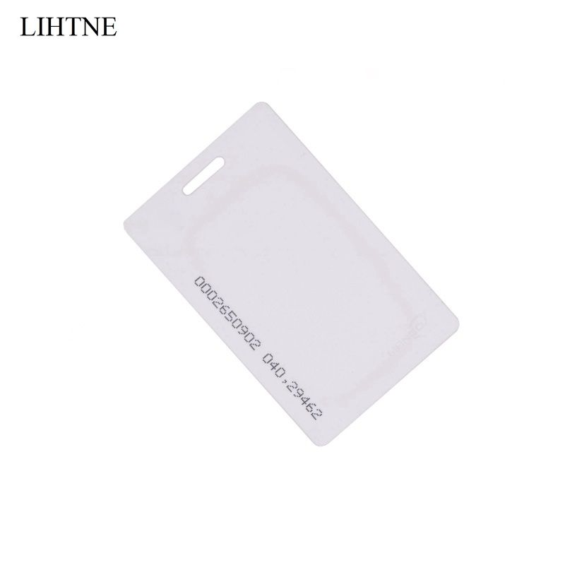 1PCS 125KHz RFID ID Thick Cards EM ID Access Control System Card RFID Card 125khz rfid proximity id card thin card rfid tags id cards door control entry access em card