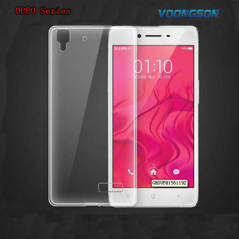 VOONGSON Transparent Back TPU Phone Cases For OPPO R5 R7 R7S R8207 R831 R829 R1 R827 R2017 A31 N3 U3 X9007 Find 7 R3 Find7 Cover