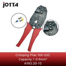 WX-03C crimping tool crimping plier 2 multi tool tools hands Ratchet Crimping Plier (European Style) stud crimping tool for metal profile matrix 87951