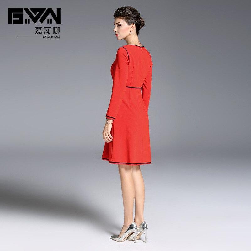 2b5057e512e857 Femmes Robe 2019 Rouge Vêtements ligne Pour À D'o Haute cou A Taille  Nouvelle Robes ...