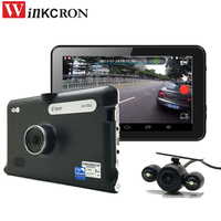 7 inch Android GPS Navigation Car DVR Camera Car Rearview camera wifi 16GB Dual lens AV IN With Parking Camera Truck vehicle