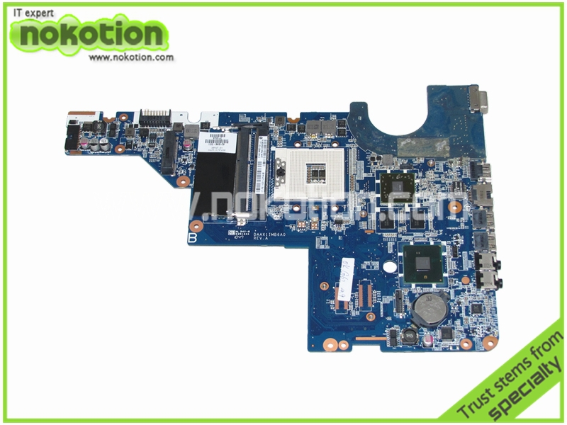 NOKOTION 631596-001 Laptop motherboard for HP G42 G42T intel HM55 ATI HD 6370M Graphics Mainboard 613294 001 laptop motherboard for hp probook 6450b 6550b hm57 intel hd graphics ddr3 mainboard
