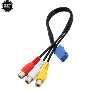 Image 3 - 1pcs For Car RCA Adapter VTR Cable For Toyota 6 Pin Blue AV Port connector for NSZT W62G NSCT D62D(N161) hot sale