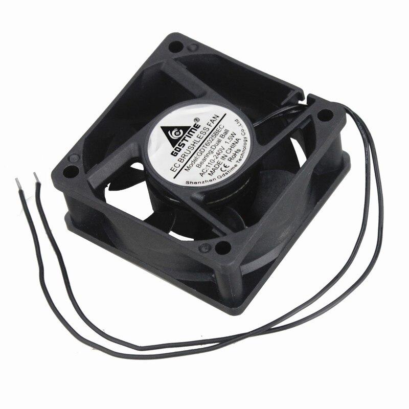 1 pcs Axial Refroidisseur 6 cm 6025BEC 2.4 pouces Roulement À Billes 60*60*25mm AC 110 v 115 v 220 v 240 v CE Brushless Ventilateur De Refroidissement 60mm x 25mm
