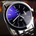 YAZOLE Marca de Luxo Completa de Aço Inoxidável Relógio Analógico Data de Exibição do Relógio de Quartzo dos homens de Negócios Homens Relógio relogio masculino