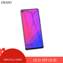 IMIDO Full Cover Anti Blue Tempered Glass for Huawei Nova 3 3i 3e 4 Anti Blue-ray Screen Protector for Nova 3 i e 4 Film подставка под шип cold ray spike protector 2 medium gold 4 шт