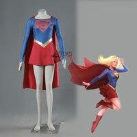 Athemis film marvel supergirl cosplay kostüm nach maß mantel dress hohe qualität