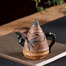 PINNY 250m Yixing Purple Clay Bamboo Shoots Teapot Hand Made Sand Tea Pots Traditional Chinese Kung Fu Set