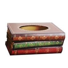 INS, винтажная деревянная коробка для салфеток в скандинавском стиле, Креативные украшения для ресторана, бумажная коробка для подделки книг