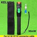 KELUSHI 30 mW Visual Fault Locator cable De Fibra probador FC Masculino Adaptador Hembra Para LC a LC/SC/ST/FC Cable De Fibra Luz Roja fuente