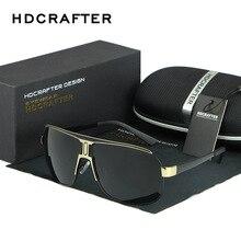 نظارات شمس مستقطبة للرجال طراز HDCRAFTER نظارات شمس للرجال ذات علامة تجارية فاخرة مُصممة بطبقة عاكسة أنيقة نظارة شمس للرجال