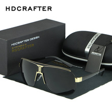 Hdcrafter homens retro polarizado óculos de sol de luxo marca designer revestimento espelho homem óculos de sol oculos masculino