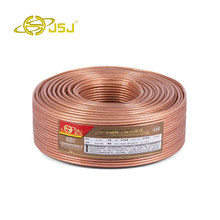 6M JSJ 14GA 600 Strands 2*2.36mm DIY HIFI OFC Transparent Loud Speaker Wire Cable for Home theater DJ System car stereo high end(China)