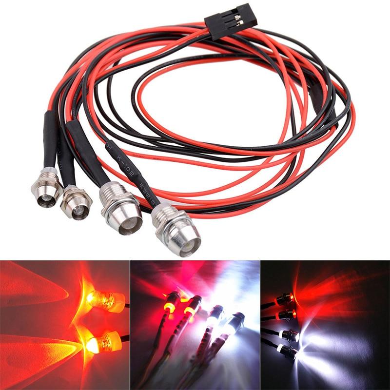 RC LED Night Headlamps Headlights 3/5mm LED Light For Model Drift Crawler Car BM88