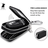 Car Key Holder Key Case Genuine Leather Crocodile Pattern Design Fashion Unisex Double Zipper Keys Bag With Rings Pl281