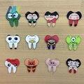 12 Unids Japonés Harajuku estilo de dibujos animados dientes Sanos acrílico broche n ° cáscara del teléfono DIY parche