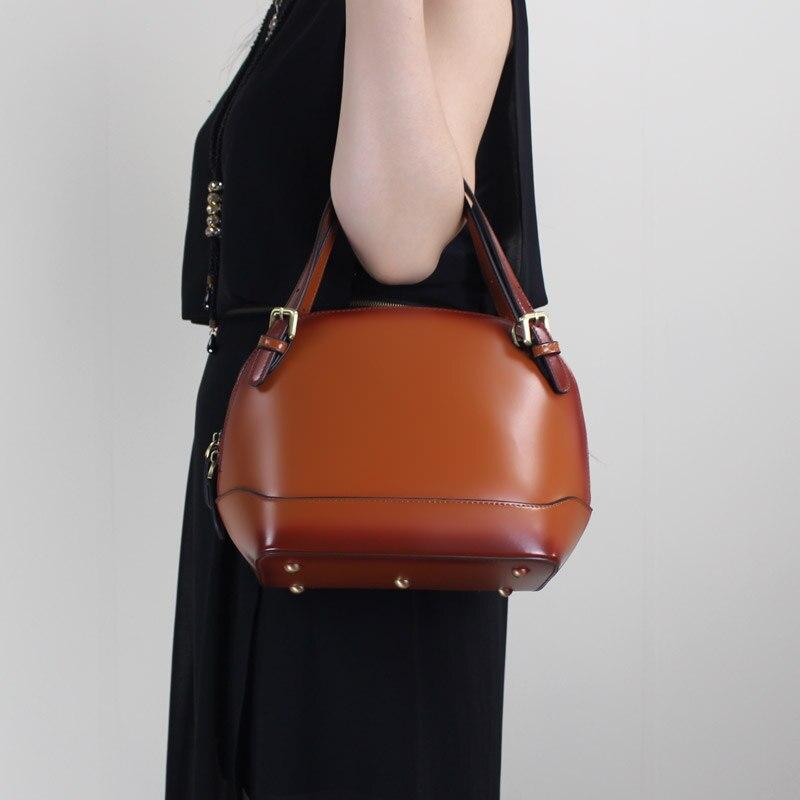 Office Lady Handbag 2019 Elegant Women Handbag Genuine Leather Female Shoulder Purse Bag Stylish Top handle
