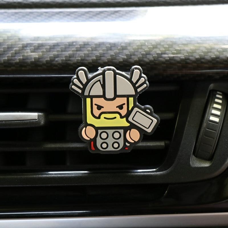 Освежитель воздуха с героями мультфильмов, автомобильный Стайлинг, духи, Мстители, Marvel, стиль для кондиционера, Вентиляционный Выход, Супермен, Бэтмен, модный, крутой - Название цвета: Thor