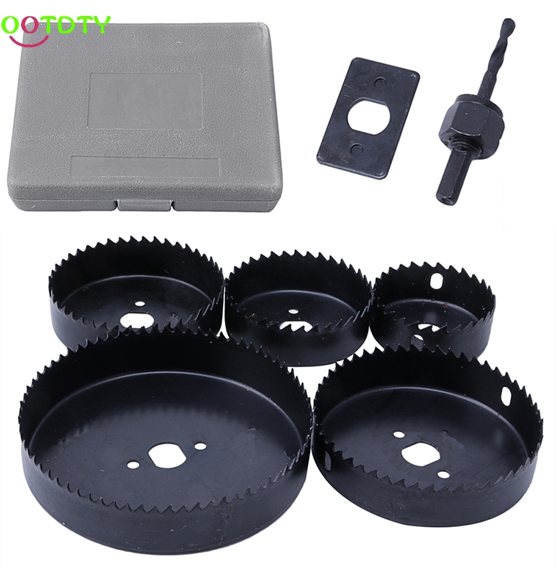 5Pcs Hole Saw Cutting Set 64-127MM Cutting Kit Tool for Wood Sheet Metal Alloy  828 Promotion