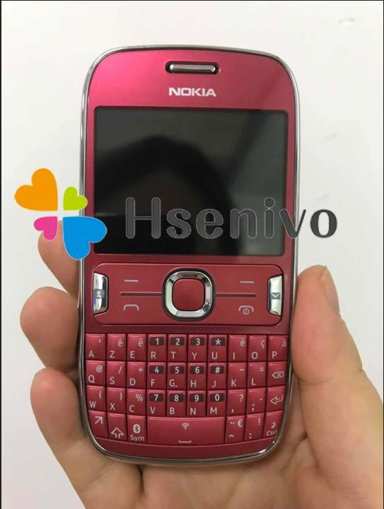 ASHA 302 разблокированный Nokia Asha 302 3g сеть GSM wifi Bluetooth JAVA 3.15MP камера мобильный телефон Восстановленный - Цвет: Red
