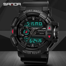Sanda Mannen Horloge Sport Digitale Horloges Man Militaire Quartz Horloges Top Merk Digitale-Horloge Waterdicht Relogio Masculino(China)