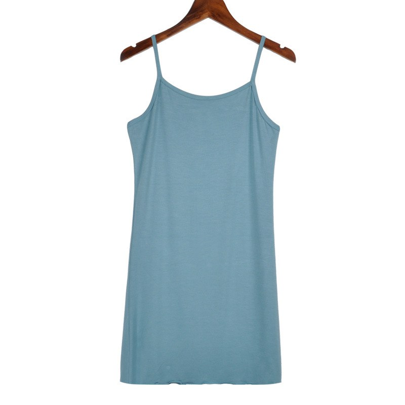 48cee15a047403 Sexy Women Long Cami With Shelf Bra Camisole Adjustable Spaghetti Strap  Tank Top Vest Crop-in Camis from Women s Clothing   Accessories on  Aliexpress.com ...