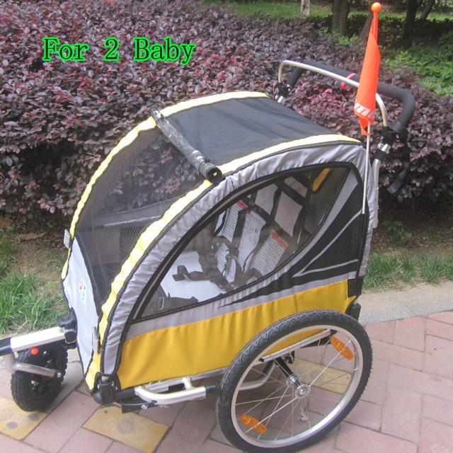 Lovebaby 20 Polegada Rodas Pneumáticas E Frame Da Liga de Alumínio Do Bebê Jogger Carrinho de Reboque Da Bicicleta À Prova de Choque Forte Com Travão Duplo