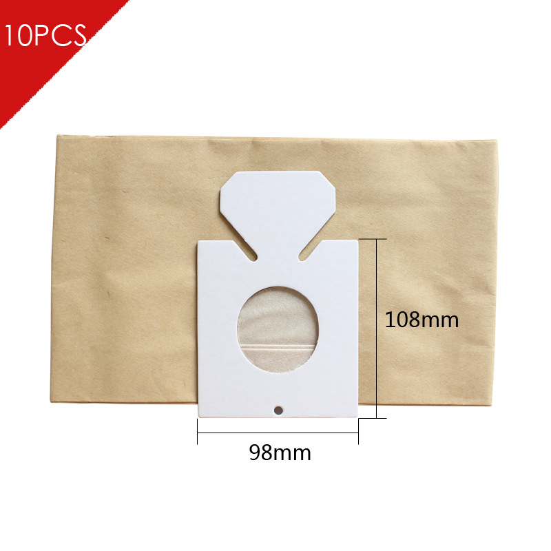 10pcs/lot Universal Hepa Paper Microfiber dust Bags 98*108 MM  For Philips Electrolux LG Haier Samsung etc Vacuums Cleaner Parts electrolux es 53 4 bags 1mf