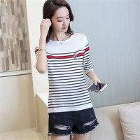 Корейский FashionSweater женщин 7274 настоящие женщины, новый лед белье в полоску, с короткими рукавами, с низким вырезом, 38-2 colorscardigan
