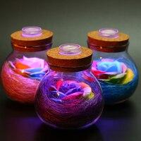 Rose Light Bottle With Gift Bag As A Creative Gift For Festival Celebration Boyfriend Girlfriend Children