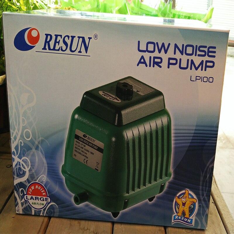 100 Вт 140L/min Resun LP 100 малошумный воздушный насос для аквариумных рыб септик Танк Гидропоника Пруд воздушный аэратор воздушный компрессор