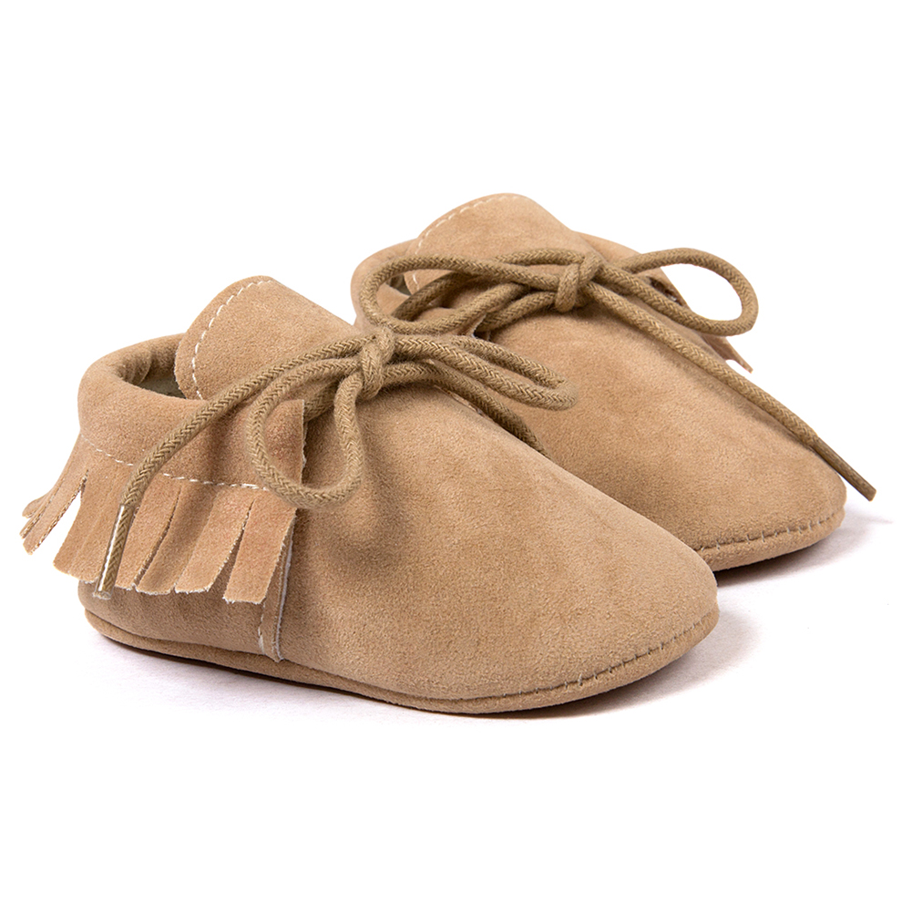 ROMIRUS Spring/Autumn Baby Moccasins shoes infant Scrub boots first walkers Newborn baby shoes Camel 11cm