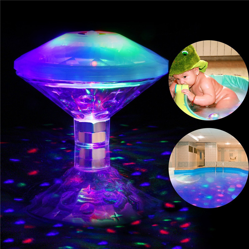 CLAITE Colorful 6LED Underwater Light Pool Floating Bulb Light Waterproof Swimming Pool Light Battery Operated Baby Bath Tub Toy
