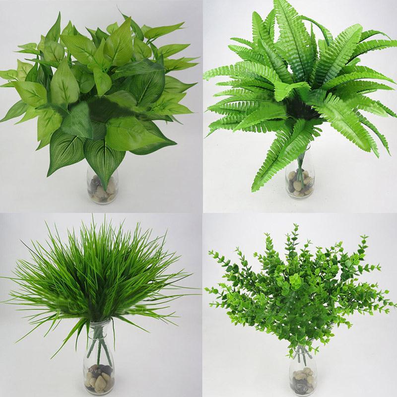 Artificial Plants Outdoor Fake Flower Leaf Foliage Bush Home Office Decor