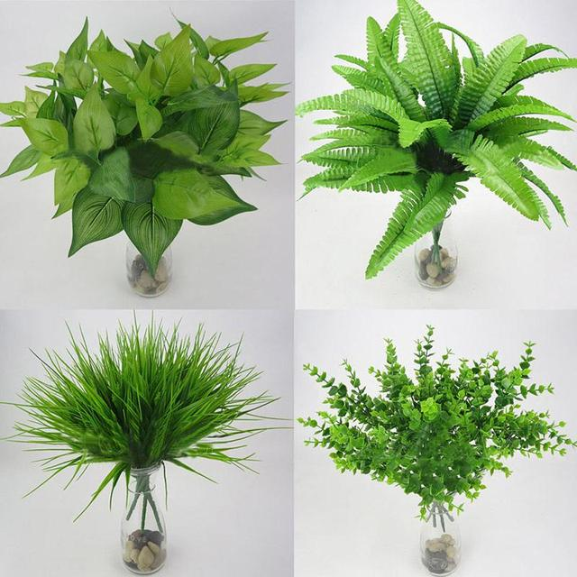 Attirant Artificial Plants For Decoration Plant Artificial Plants Outdoor Fake  Flower Leaf Foliage Bush Home Office Decor