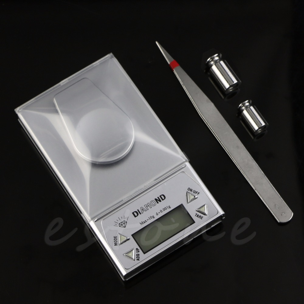 10g/0.001g Milligram Precision LCD Digital Electronic Pocket Gold Jewelry Scale -B119