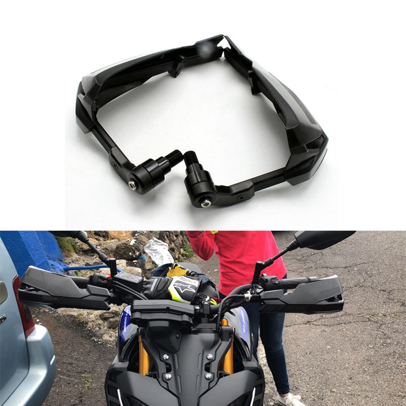For Yamaha MT 09 Tracer 2017 Windshield Hand guard Wind Flow Deflector Handguard Protector Moto Motorcycle Brake lever Parts for honda wind flow deflector sheild protector hand guard er6n 2006 2017 bike moto motorcycle brake clutch levers parts