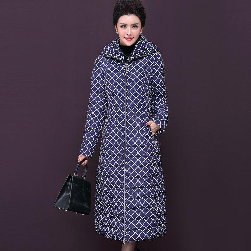 Capuchon Black Mince La Lp113 Taille Dames Chaud Manteau Hiver Plus Femmes Long 2018 Parka Coton blue Casual Au Garder Épaississent De À Mode Impression nqB8OCCwY