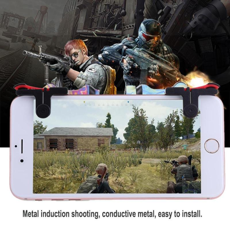 1 pair 2pcs Mobile Phone Game Physical Joysticks Game Controller Assist Tools Shooting Games Accessories for PUBG STG FPS TPS