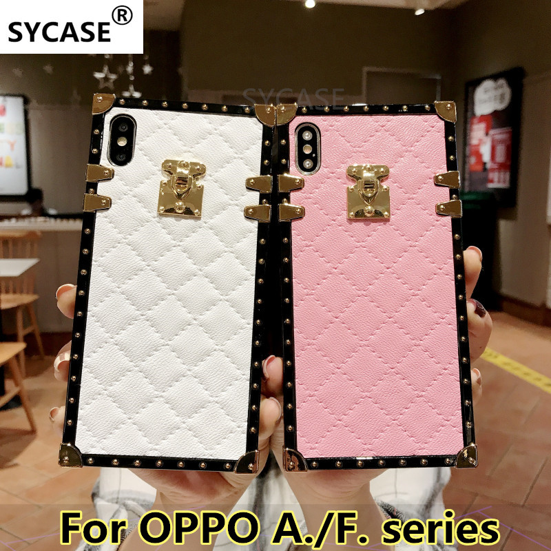 US $4.85 |SYCASE Plaid Rhombic lambskin leather phone case For OPPO A39 A57 A73 A75 A79 A83 A3 S A5 F7 F9 Fashion square Female soft cover-in Fitted Cases from Cellphones & Telecommunications on Aliexpress.com | Alibaba Group