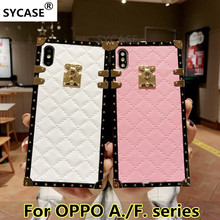 US $4.85  SYCASE Plaid Rhombic lambskin leather phone case For OPPO A39 A57 A73 A75 A79 A83 A3 S A5 F7 F9 Fashion square Female soft cover-in Fitted Cases from Cellphones & Telecommunications on Aliexpress.com   Alibaba Group