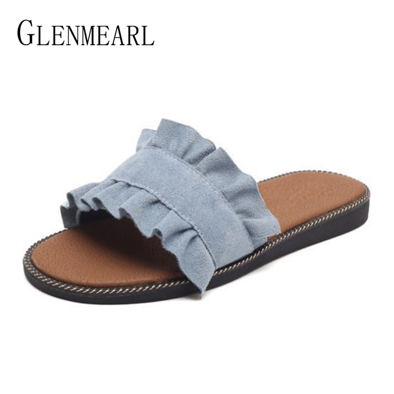 Women Slippers Summer Shoes Flats Outside Beach Slides Flat Woman Casual Shoes Slip On Black Blue Fashion Female Slippers DEWomen Slippers Summer Shoes Flats Outside Beach Slides Flat Woman Casual Shoes Slip On Black Blue Fashion Female Slippers DE