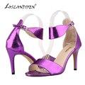 LOSLANDIFEN Summer Shoes Woman Sandals PU Leather Open Toe High Heels Ladies Crocodile Sandals Women Platform Shoes 107-2xey