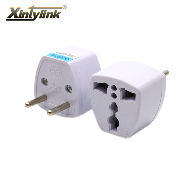 xintylink 2pcs 110v 220v two round pin plug power socket adapter ...