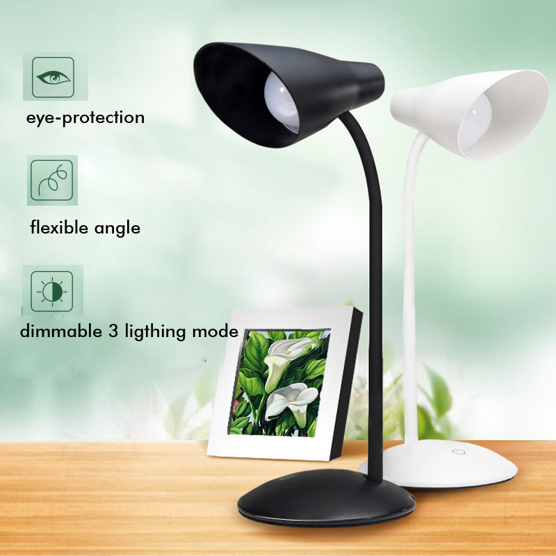 5W Dimmable Touch Table Lamp Brightness Adjustable lamparas de mesa USB Rechargeable Led Reading Light Flexible lampe deco cx swiss military sw 2703 cx swiss military