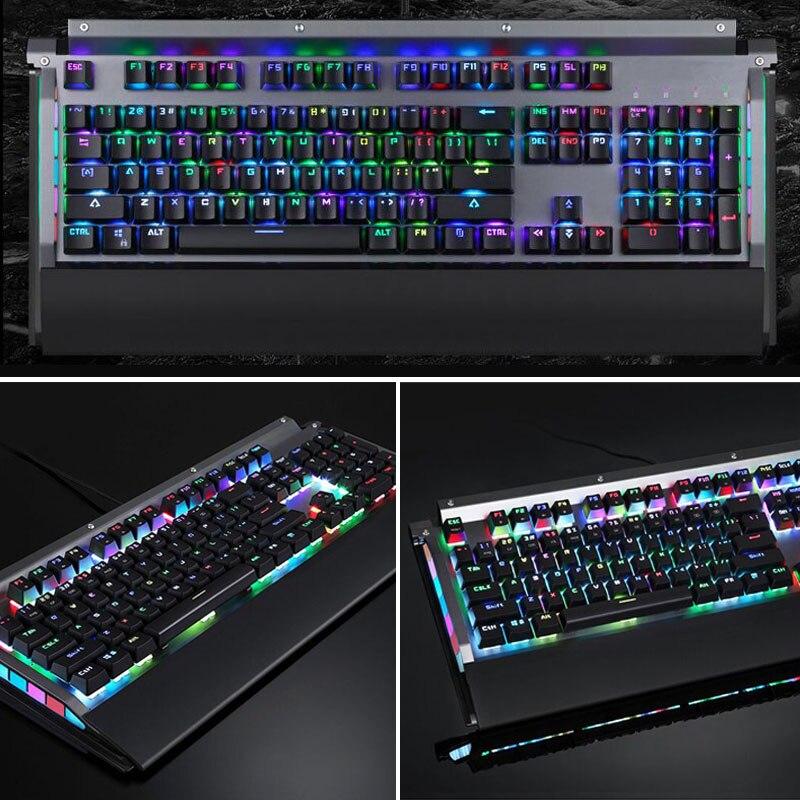 RGB clavier mécanique 104 touches USB 2.0 Kailh boîte interrupteur filaire vitesse de réponse rapide OD889