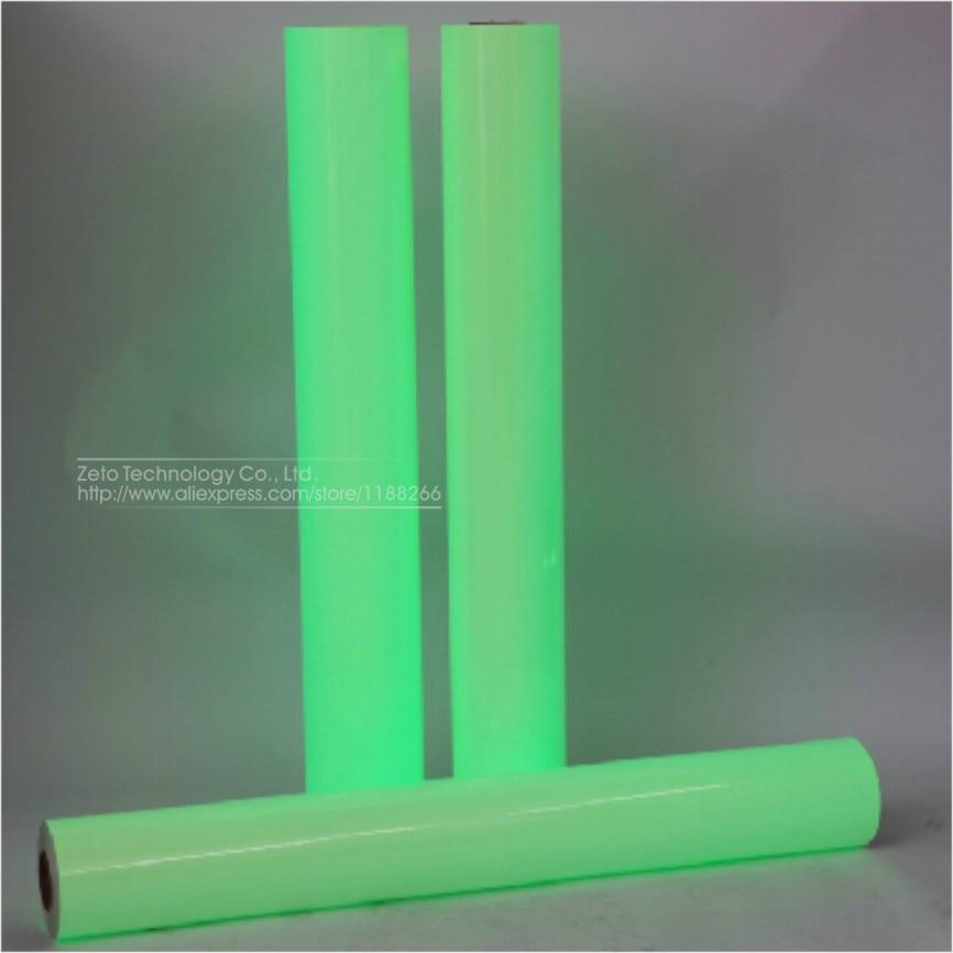 124x30cm Car Green Luminous Sticker Glow Vinyl Wrap Film