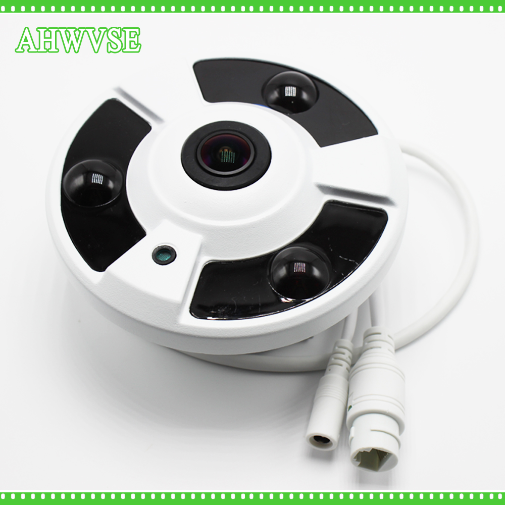 Fisheye 360 Degree POE IP Camera 2MP Camera ONVIF P2P 1080P HD POE IP camera Indoor 1.7mm Lens