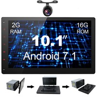10.1' Car Stereo with GPS Navigation, Android 7.1 2GB RAM,16GB Tablet PC,Full HD,Plug and Play with Rear View Camera